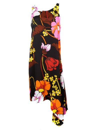 MARNI Marni 'Melody' Asymmetrical Floral Print Dress. #marni #cloth #dresses