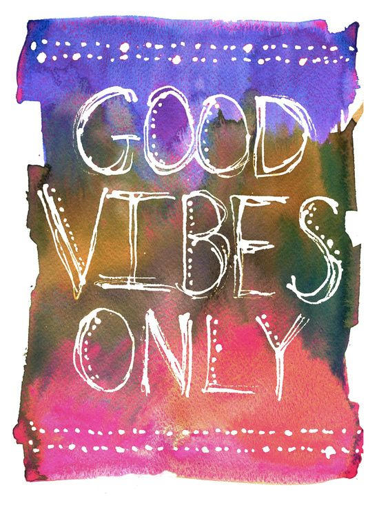 Good Vibes Only Art Print by SchatziBrown #goodvibes #positive #watercolor