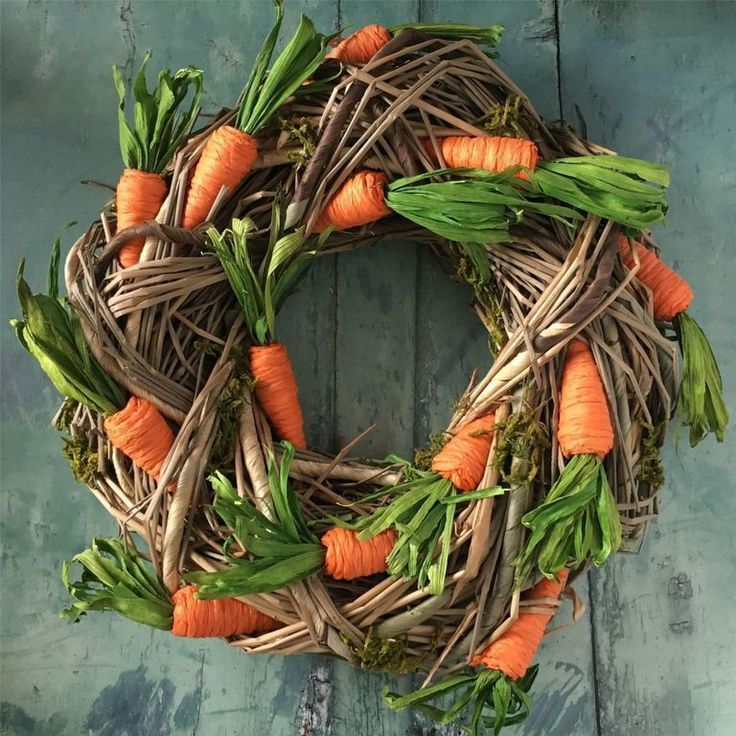 Photo of Carrot and branch Easter wreath – Diyideasdecoration.club