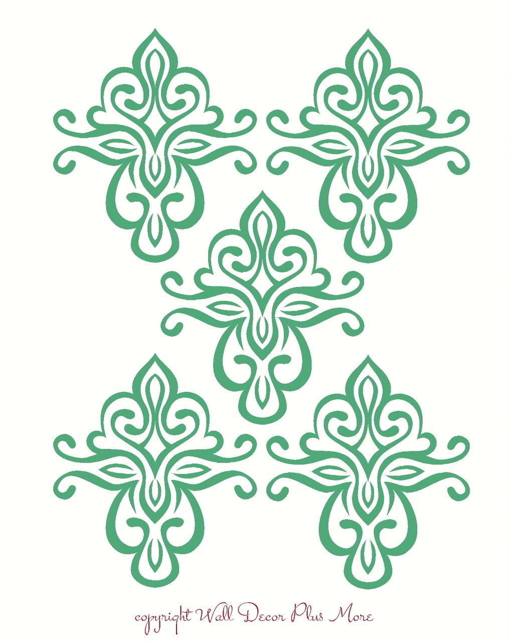 Floral Pattern Medallion Wall Decal For Home Decor Floral Wall