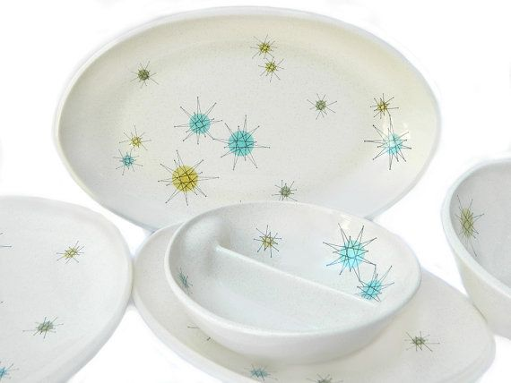 Franciscan Starburst Atomic Dish Set Plus Rare Specialty Pieces ...