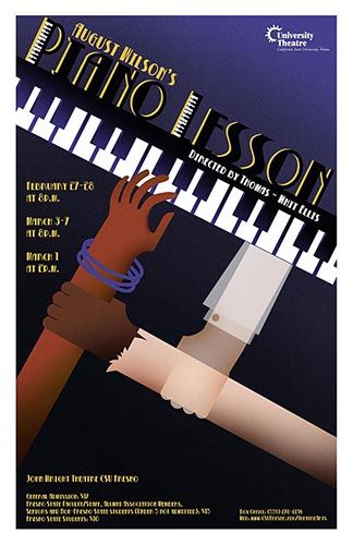 Poster design for August Wilson's play, Piano Lesson