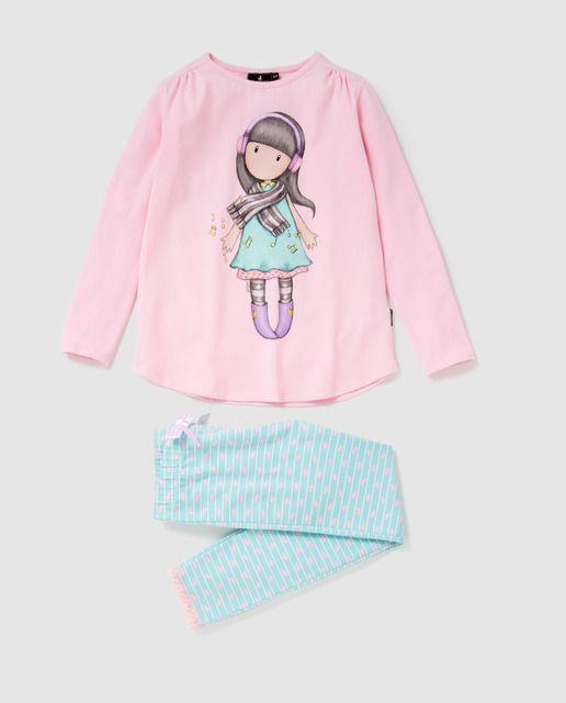 Pijama de niña Personajes de Gorjuss con rayas en 2019  73aba31ef46