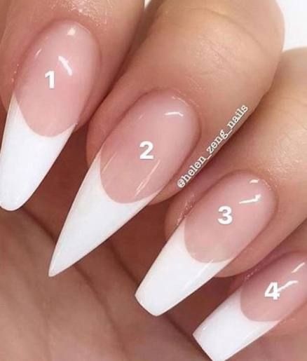 Nails White Tip Acrylic French Manicures 67 Ideas In 2020 White Tip Acrylic Nails Acrylic Nail Types French Tip Acrylic Nails