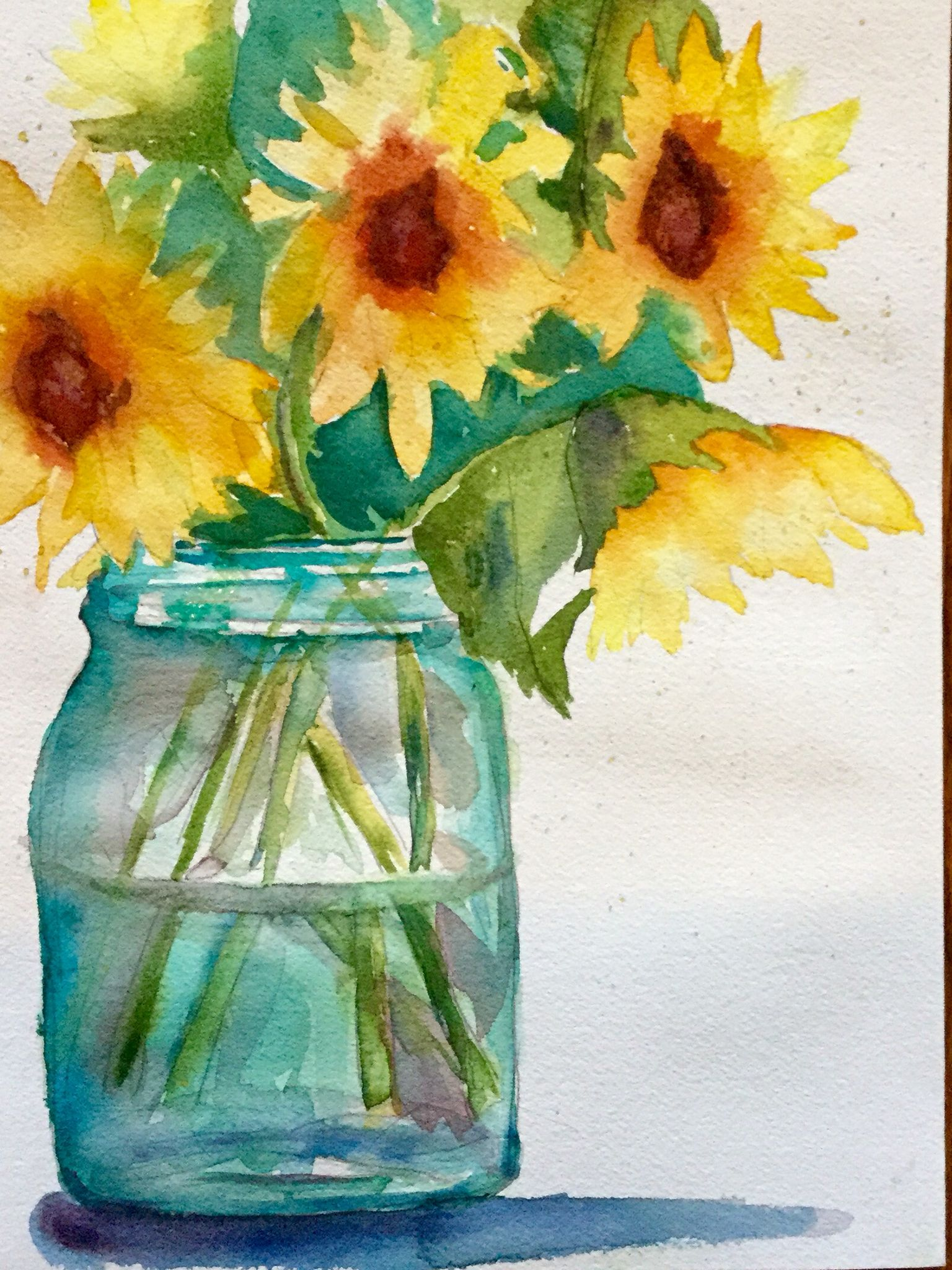 Watercolor artist in texas -  Sunshine In A Jar By Texas Watercolor Artist Karen Scherrer