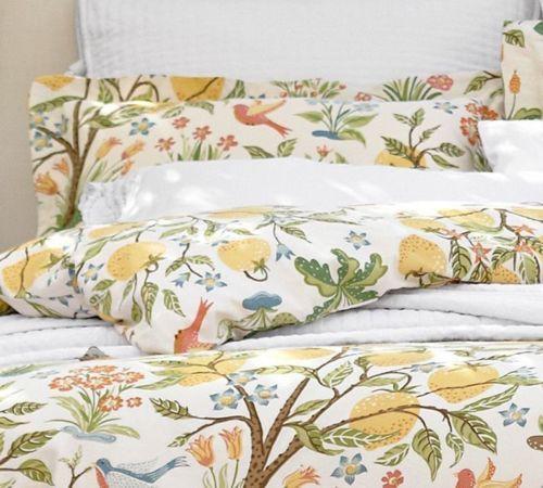 Pottery Barn Jocelyn Floral King Duvet Cover 2 Euro Shams