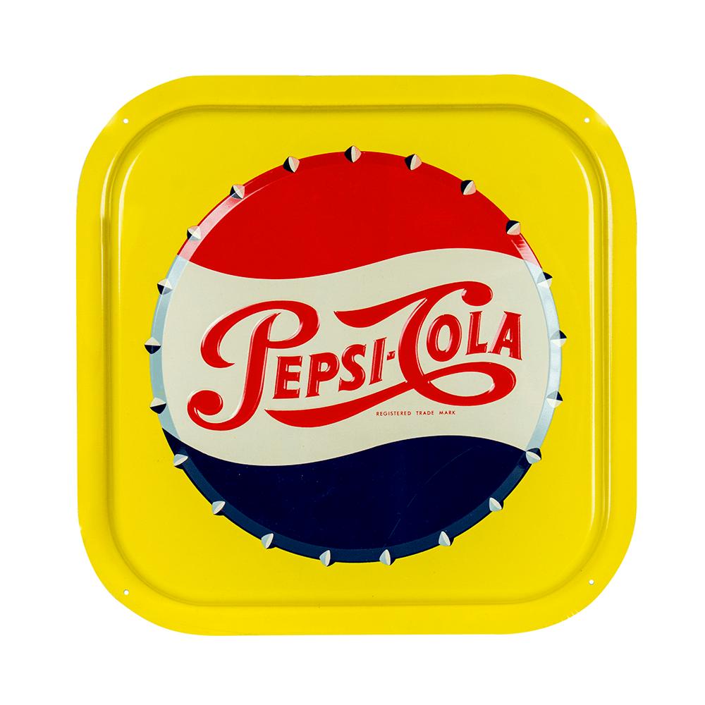 Mint Pepsi Cola Bottle Cap Embossed Sign Peekaboo Gallery Pepsi Cola Pepsi Cola