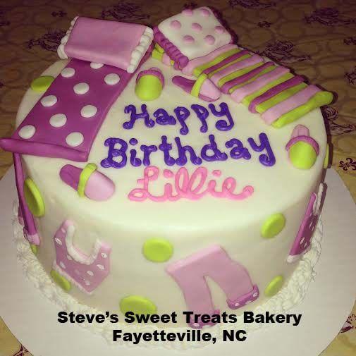 Peachy Pajama Party Birthday Cake Happy Birthday Steve Party Cakes Funny Birthday Cards Online Inifodamsfinfo