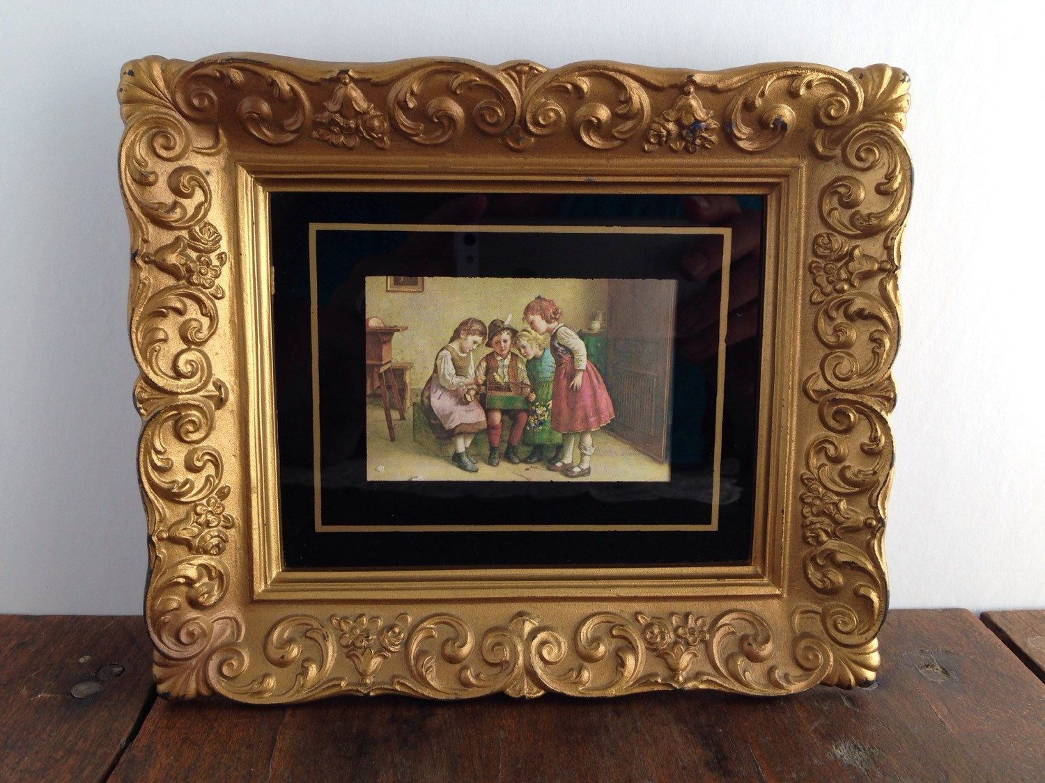 SOLD OUT - Edmund Adler Framed Print - Yellow Bird print with gold ...