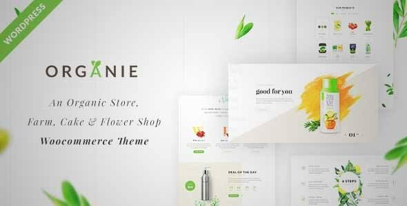 Download and review of Organie - An Organic Store, Farm, Cake and Flower Shop WooCommerce Theme, one of the best Themeforest eCommerces themes