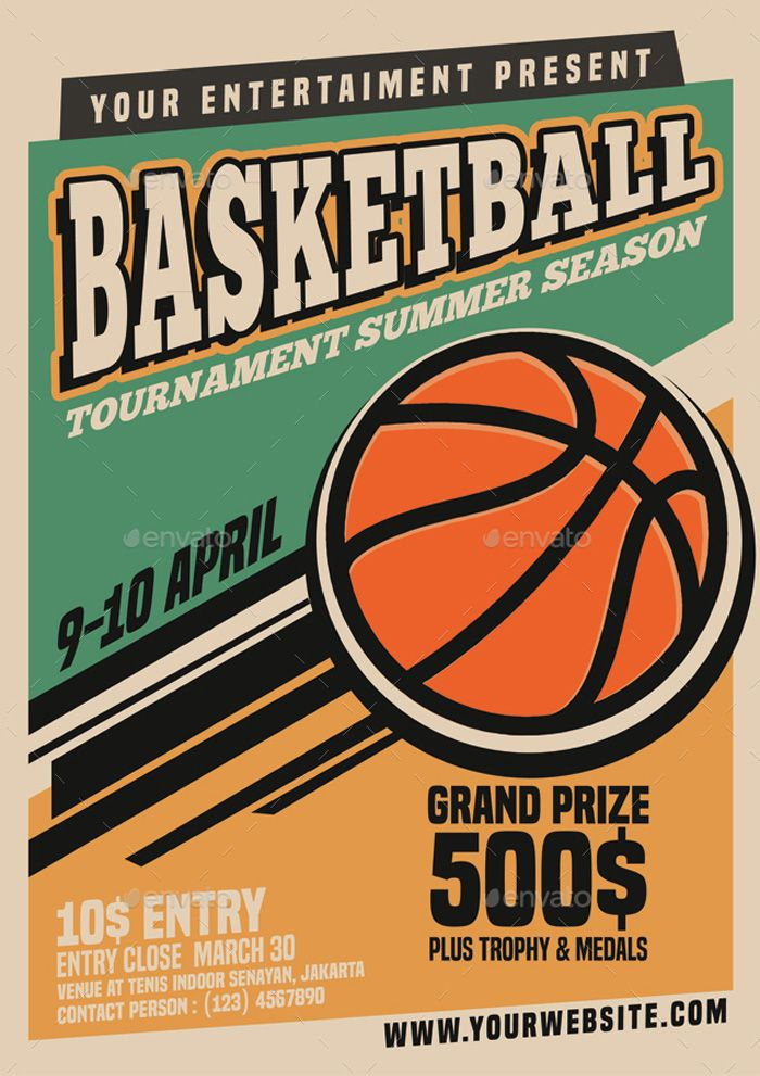 vintage style basketball tournament flyer flyer templates flyer