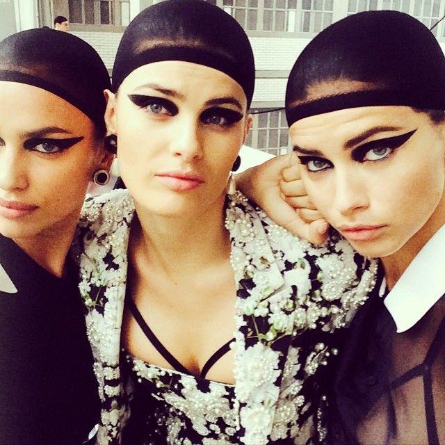 Irina Shayk, Candice Swanepoel, Adriana Lima Walk Givenchy Menswear Show