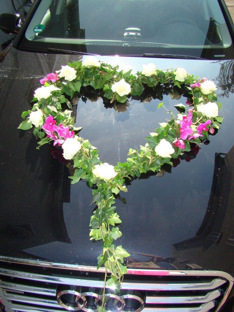 Autoschmuck  Hochzeit  Decoration voiture Decoration