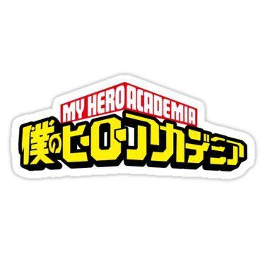 My Hero Academia Logo Sticker My Hero Academia My Hero Hero