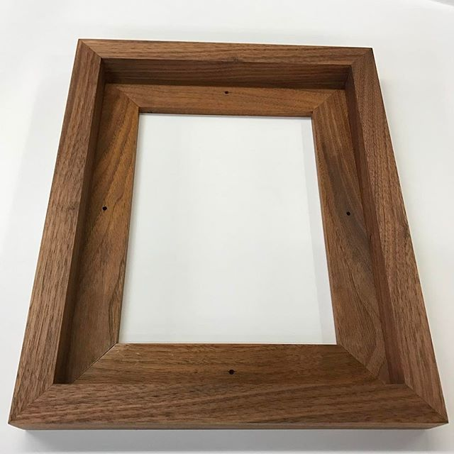Oiled Walnut Floater Frame Profile 132 Museum Quality Custom Picture Framing Floating Frame Frame Custom Wood