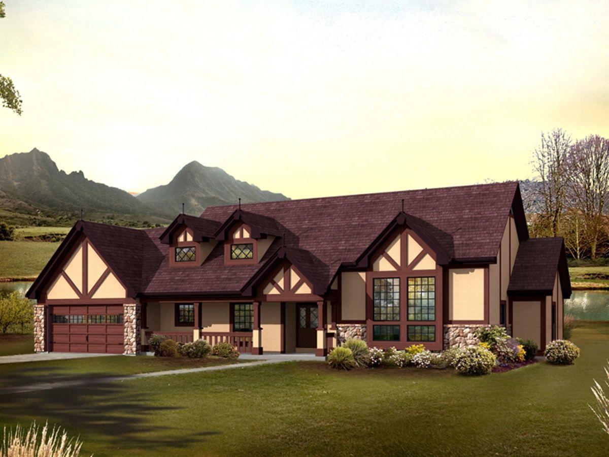 Style Cottage Ranch House Plans Design