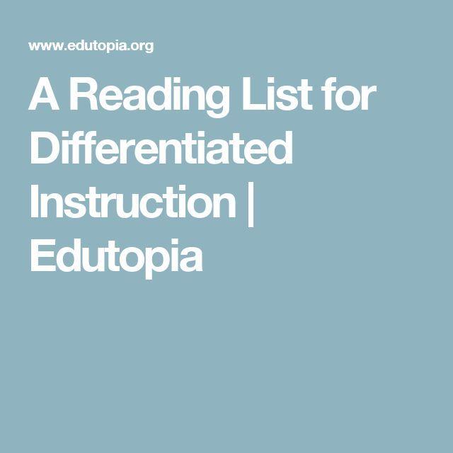 A Reading List For Differentiated Instruction Teech Ut Pinterest