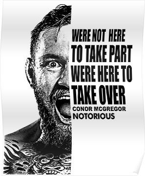 Conor Mcgregor Half Face Quote Poster Half Face Quotes Face Quotes Quote Posters