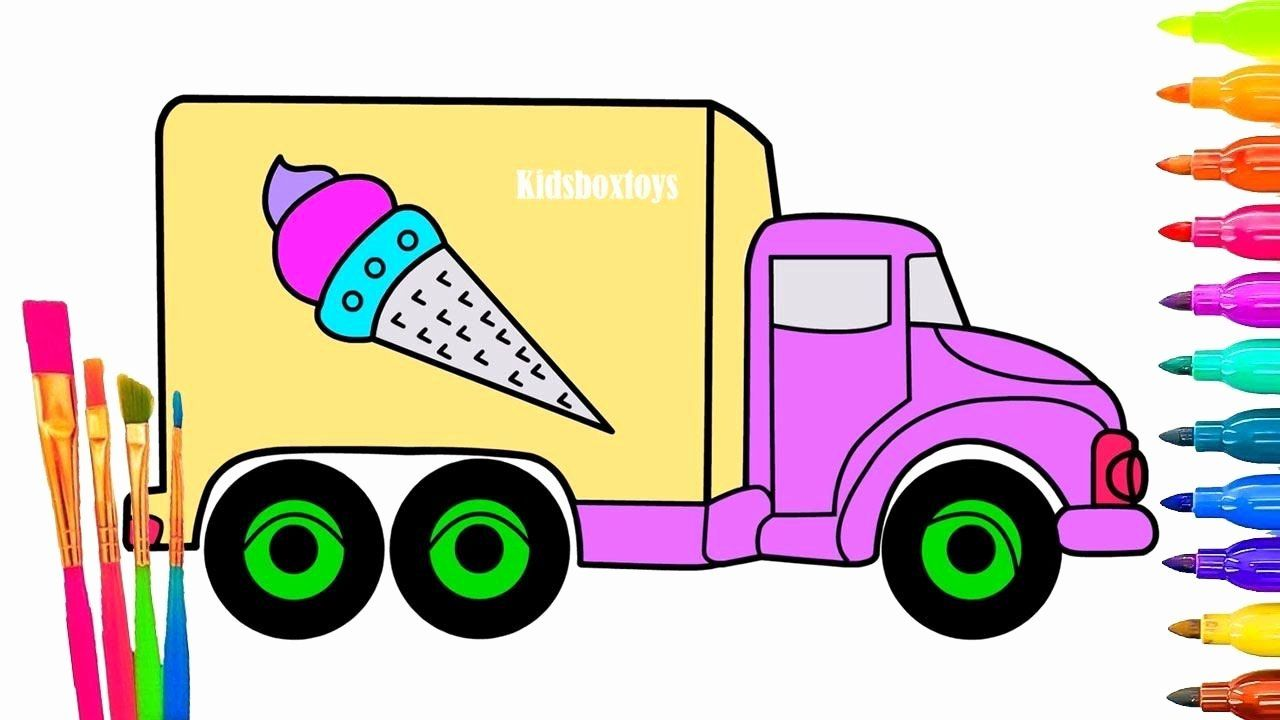 Ice Cream Truck Coloring Page Inspirational Magic Ice Cream Truck Coloring Page For Kids How Truck Coloring Pages Ice Cream Truck Coloring Pages Inspirational