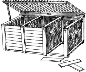 3 stage compost bin plans. If I ever need that much compost space ...