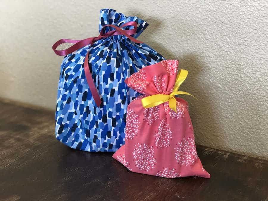how to sew a fabric gift bag