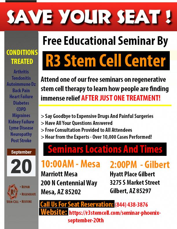 FREE Educational Regenerative Stem Cell Therapy Seminar