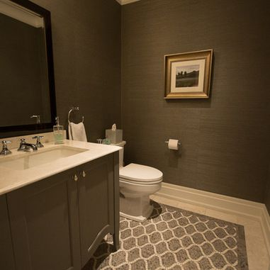 Transitional Powder Room Design Ideas, Pictures, Remodel And Decor