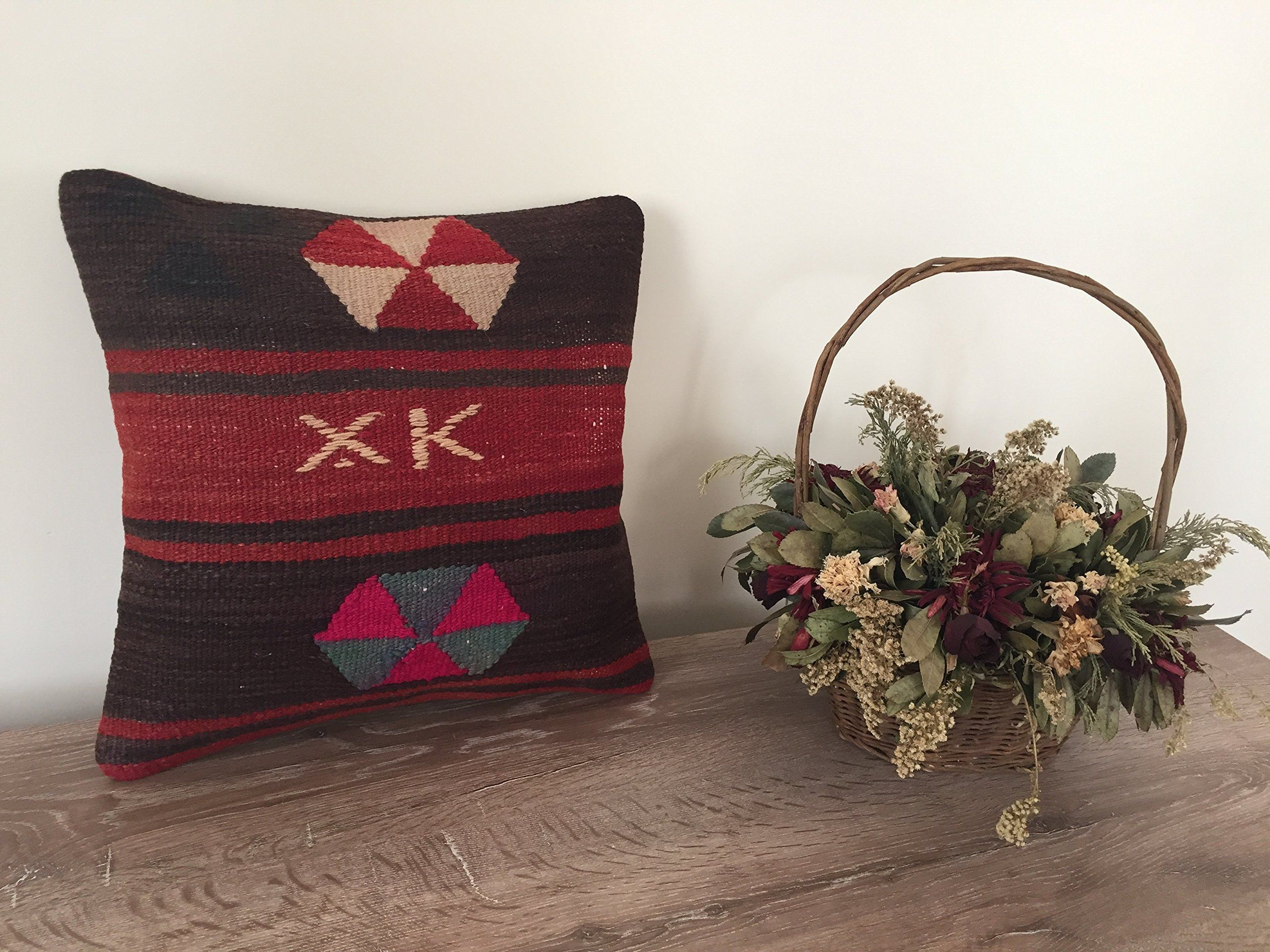 Kilim pillow uu x uu anatolian turkish cushion cover cm x