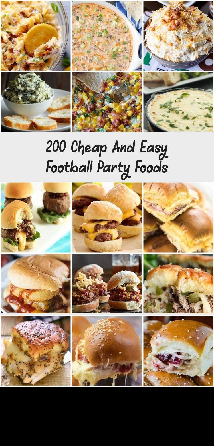 200 Cheap And Easy Football Party Foods #milliondollardip 200 Cheap and Easy Football Party Foods Start the football season off right with these fan favorite snacks and appetizers that are perfect for a crowd. Whether you are looking for tailgating food or football party food there are hundreds of recipes to choose from! Dip and Spread Football Party Foods 5 Minute Million Dollar Dip fromThe Recipe Critic 5-ingredient White Queso #FoodandDrinkParty #milliondollardip 200 Cheap And Easy Football P #milliondollardip