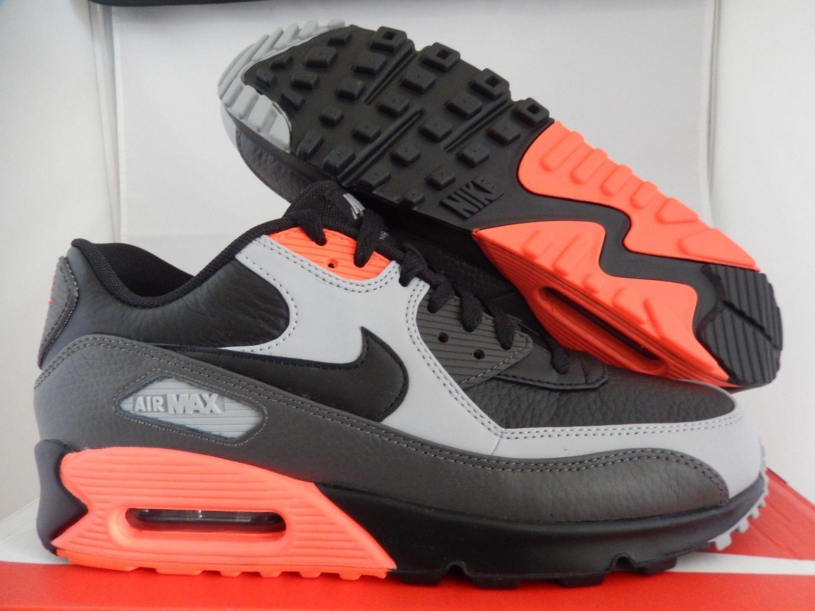 Mejorar Vibrar cilindro  NIKE AIR MAX 90 LTR LEATHER BLACK-MEDIUM ASH GREY-CRIMSON [652980-002] | Nike  air, Air max sneakers, Nike air max