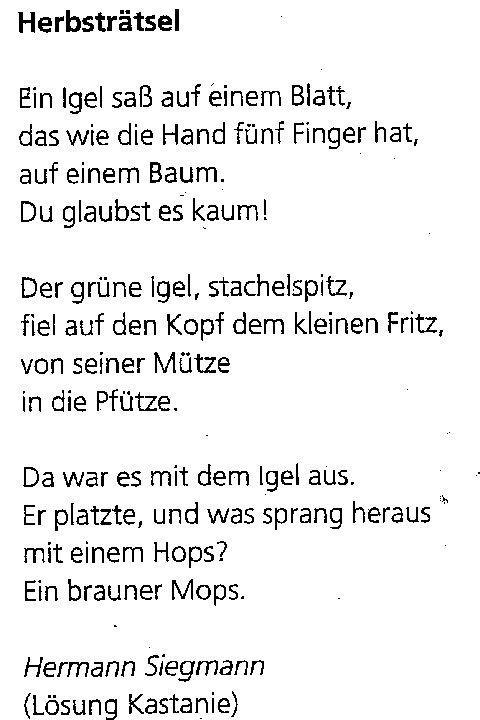 Gedicht Igel Google Suche Gedichte Fur Kinder Herbstgedichte Fur Kinder Kindergedichte