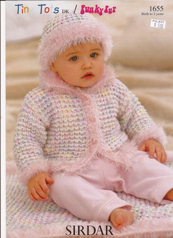 Sirdar Tiny Tots Dk Funky Fur Knitting Pattern 1655 By Brokemarys
