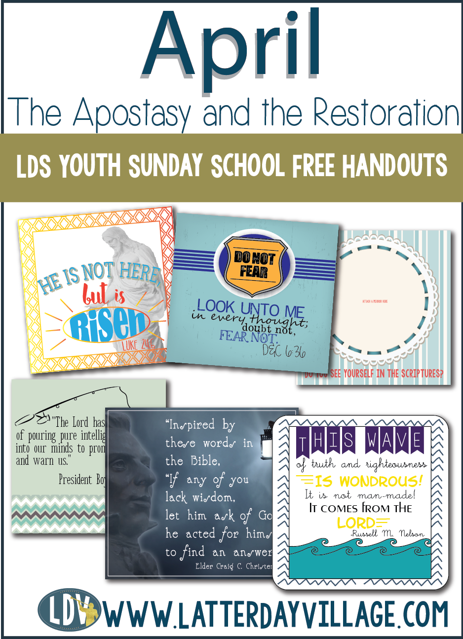 April Come Follow Me:Youth Sunday School FREE lesson handouts ...