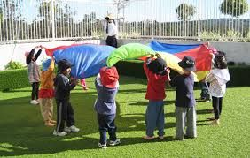 Chap 12 talks about large motor and outdoor play. Pages 327-330 talks about integrating both into our curriculum. It is important to develop these skills, but it is also important to provide opportunities to use these new skills inside and out doors. Playing with a parachute is an activity that can be done in both settings.