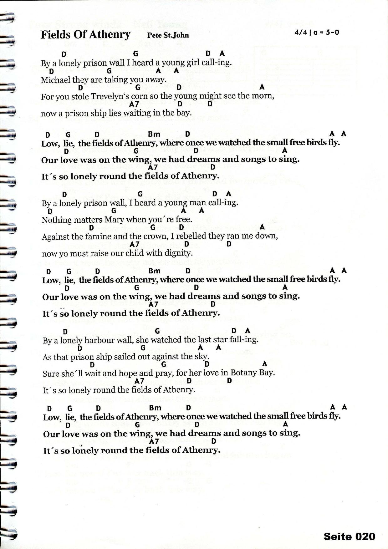 Fields Of Athenry Chords Lyrics Tutorial Off Kilter Pinterest