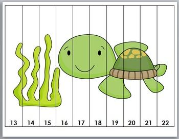 Ocean Theme Counting Puzzles - Set 2 ~ Numbers 1-120 Plus