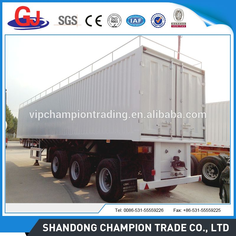 99e3a9423d 3 axle box van type enclosed cargo semi trailer with siding curtain ...