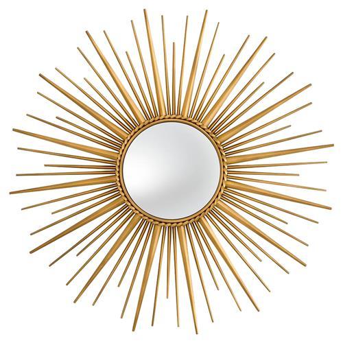 Eichholtz Modern Helios Gold Starburst Sun Wall Mirror In 2021 Mirror Wall Gold Starburst Starburst Mirror