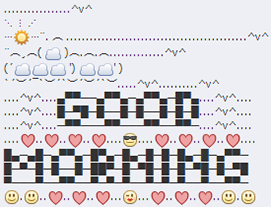 Cute good morning emoji texts