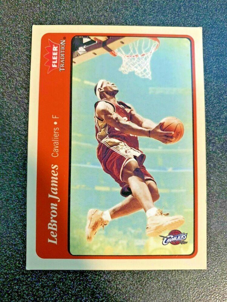 2004 fleer lebron james 140 basketball card mint from