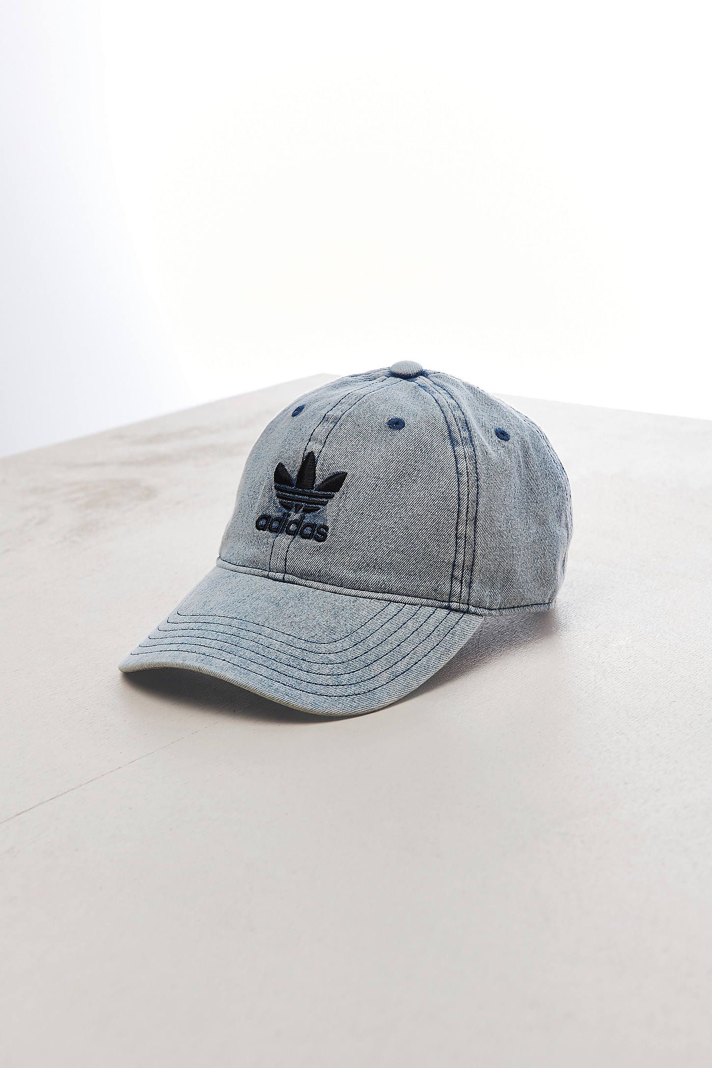 7b15d061617e3 Slide View  1  adidas Relaxed Denim Baseball Hat