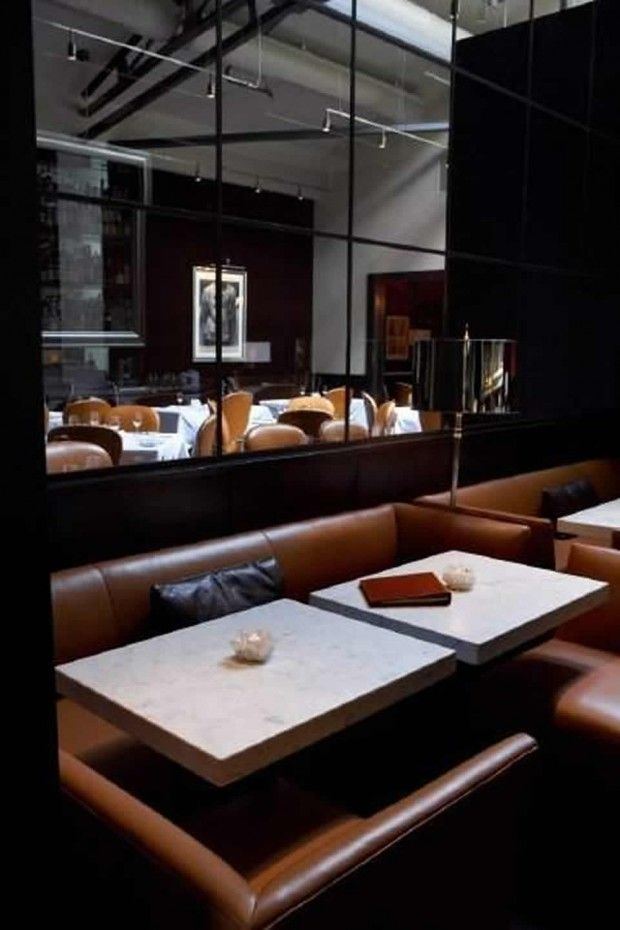 Greys Brownirrors Contemporary Fine Dining Restaurant Interior Design Of Spruce San Francisco