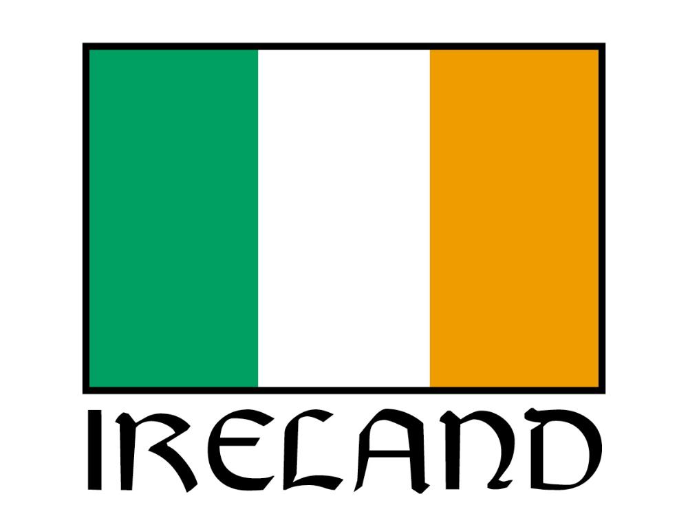 I/'D RATHER BE IN IRELAND IRISH flag ireland  License Plate Frame