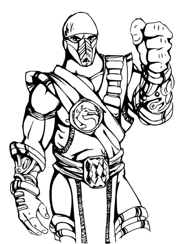 Excellent Image Of Mortal Kombat Coloring Pages Printable