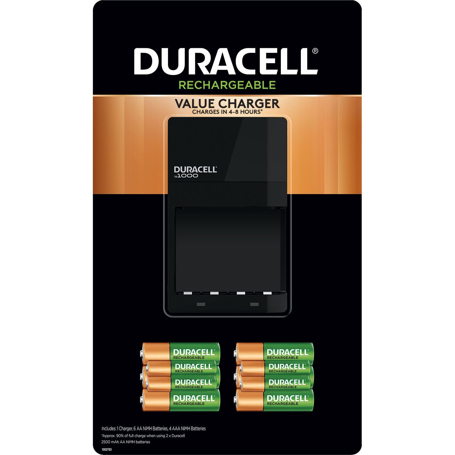Duracell Battery Charger With Rechargeable Aa 6 Pack And Aaa 4 Pack Walmart Com Duracell Aa Battery Charger Duracell Battery Charger