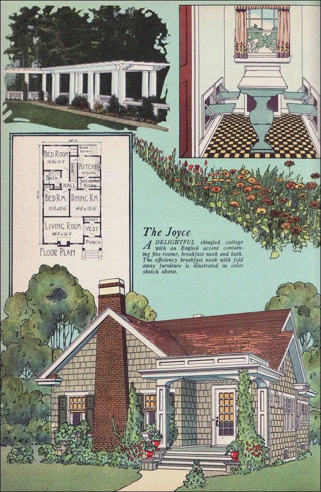 1925 American Builder The Joyce I Love The Fold Down Seats In The Breakfast Nook Craftsman House Plans Vintage House Plans English Cottage Style