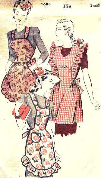 vintage apron patterns - Google Search | aprons | Pinterest ...
