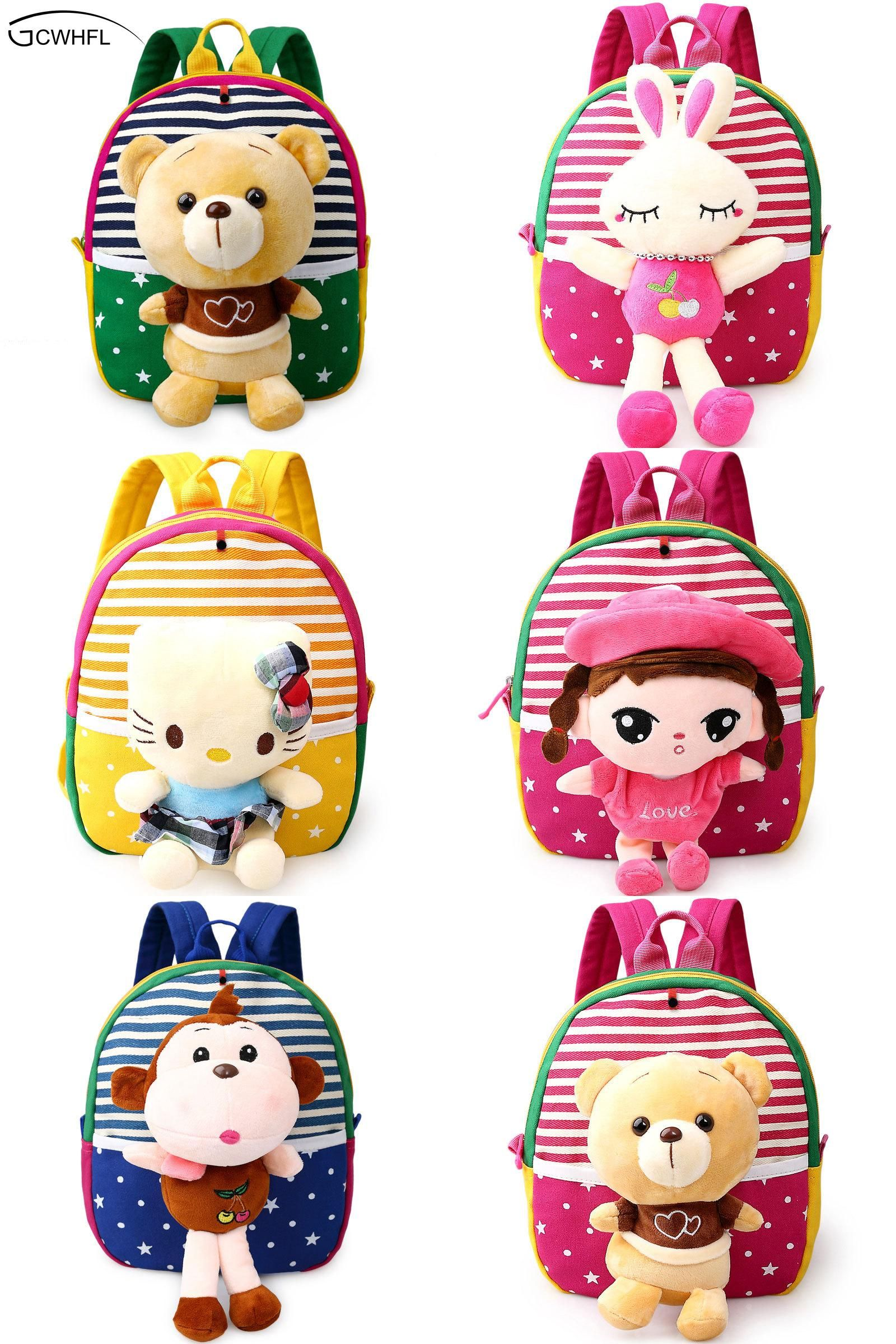Visit To Buy Cute Plush Bear Baby Boys Preschool Bags