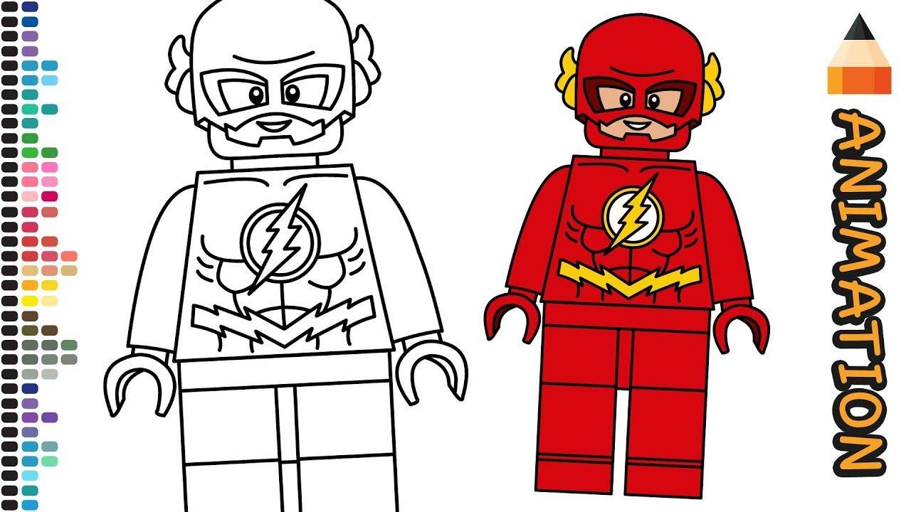 How To Draw Lego Flash Superhero Extra Animations