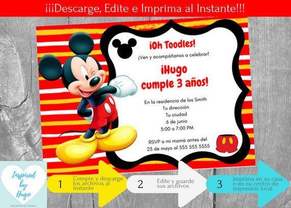 El cumpleanos de mickey mouse en espanol